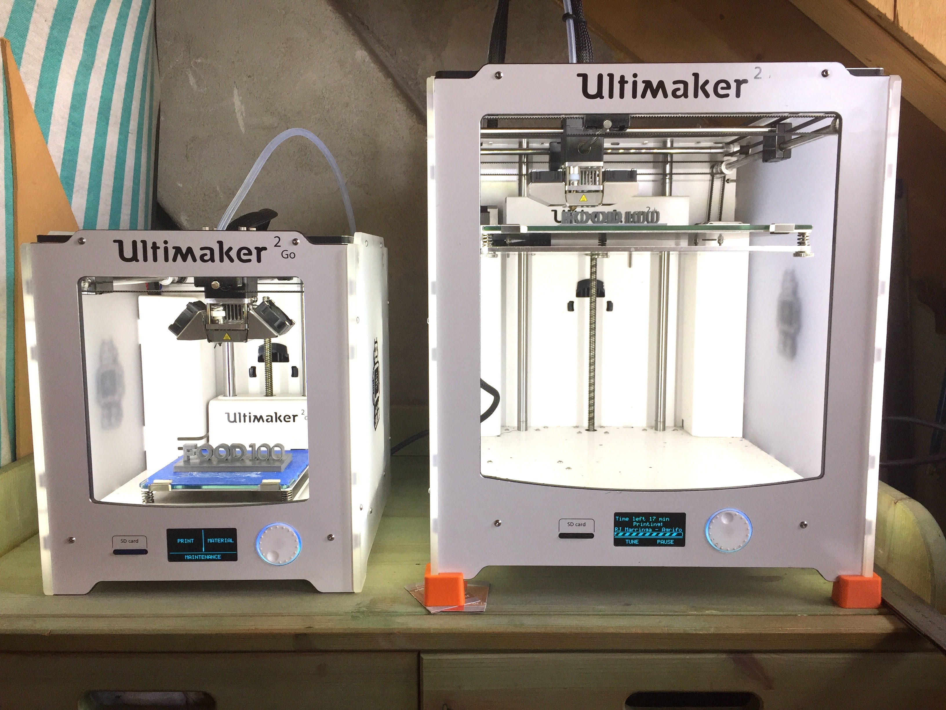 FOOD100 3D printing in progress with my Ultimaker2+