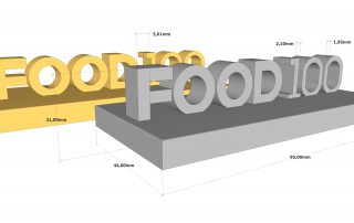 prototype FOOD100 3D modelling in SketchUp for 3D print